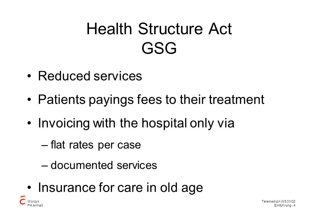 Health Structure Act GSG