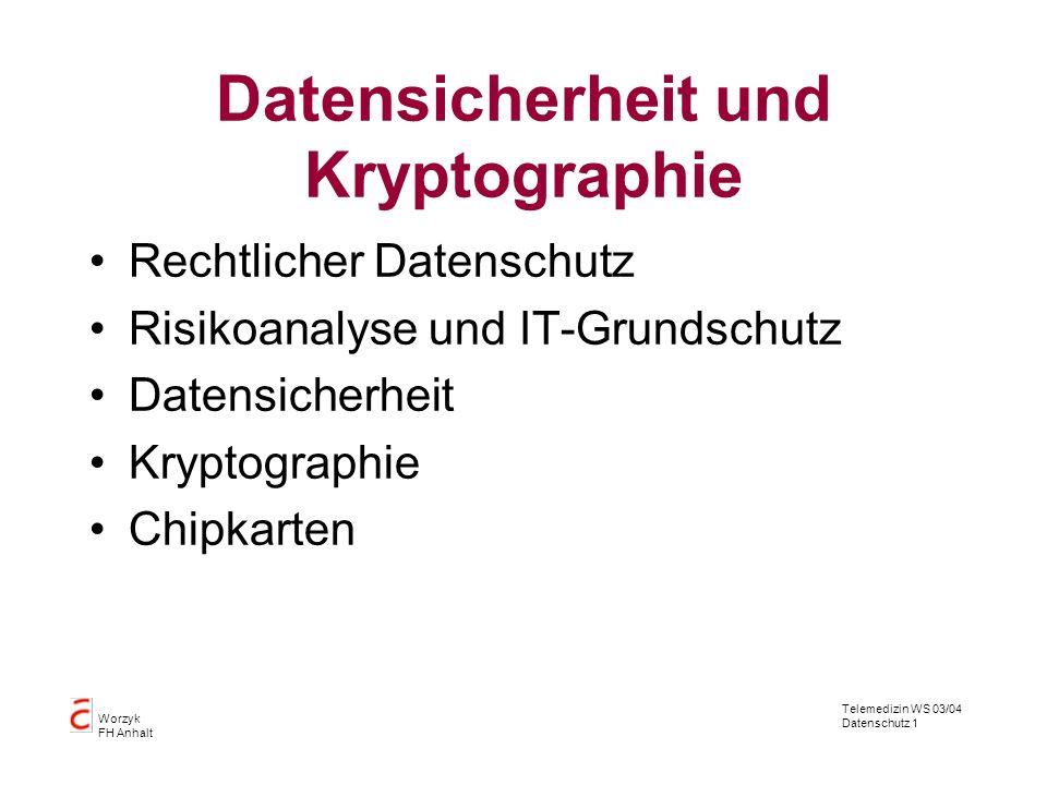 Datensicherheit und Kryptographie