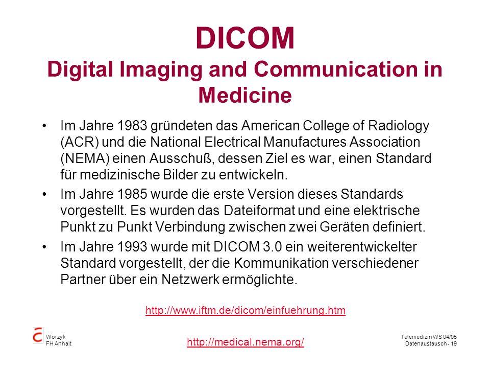 DICOM Digital Imaging and Communication in Medicine