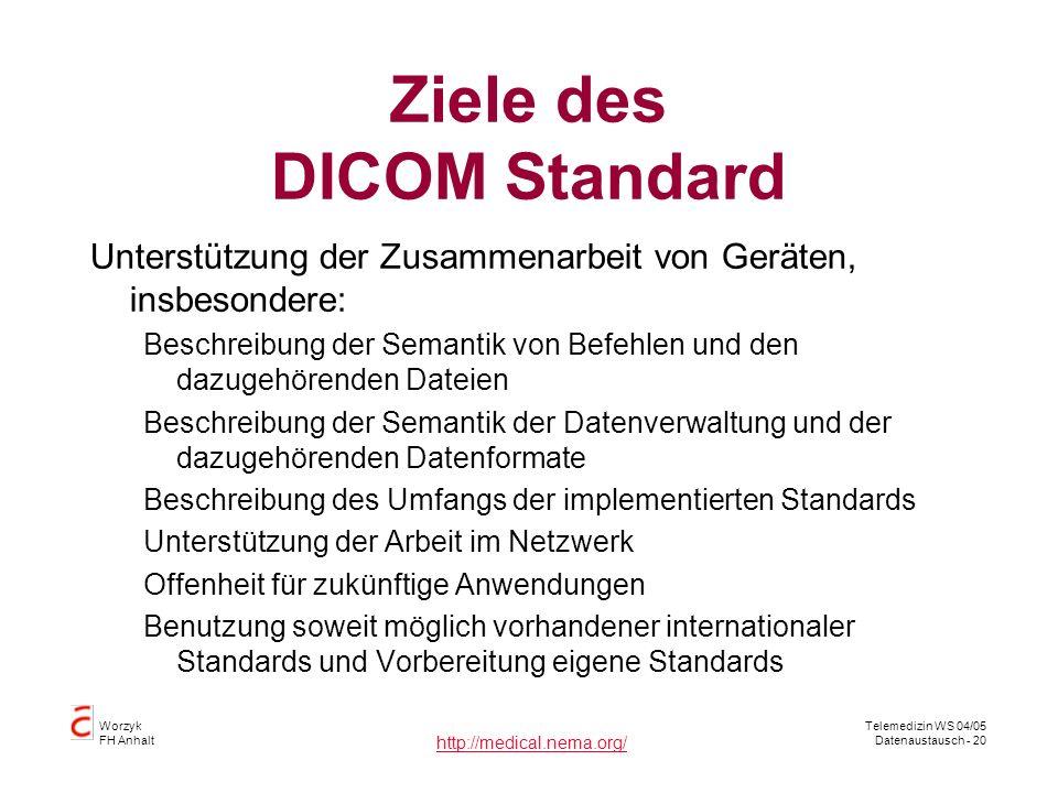 Ziele des DICOM Standard