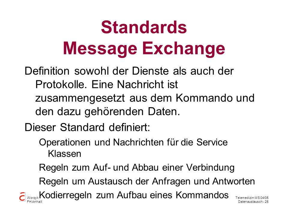 Standards Message Exchange