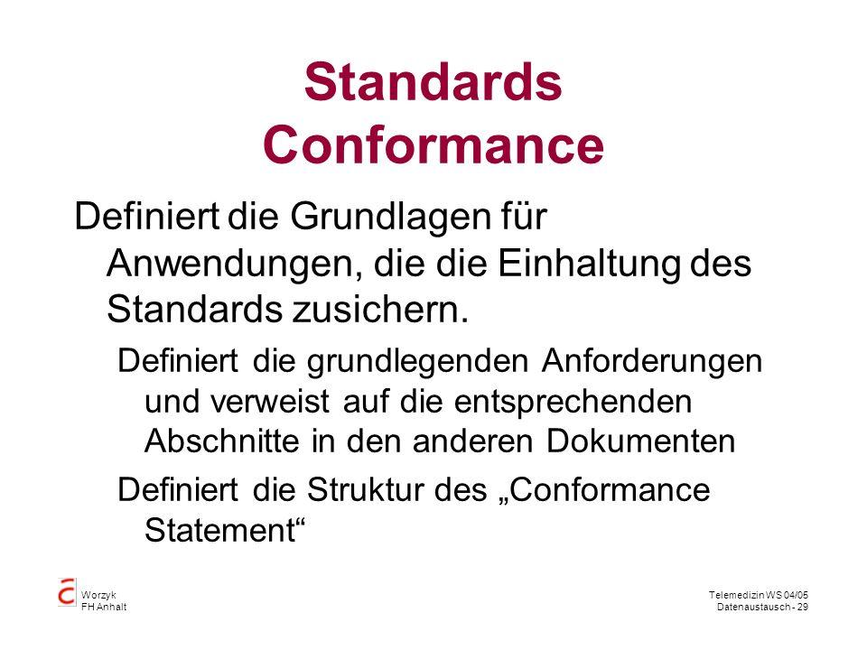 Standards Conformance