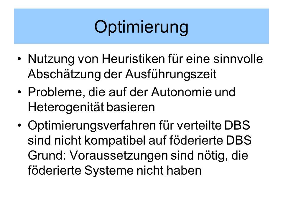 Optimierung Nutzung von Heuristiken für eine sinnvolle Abschätzung der Ausführungszeit. Probleme, die auf der Autonomie und Heterogenität basieren.