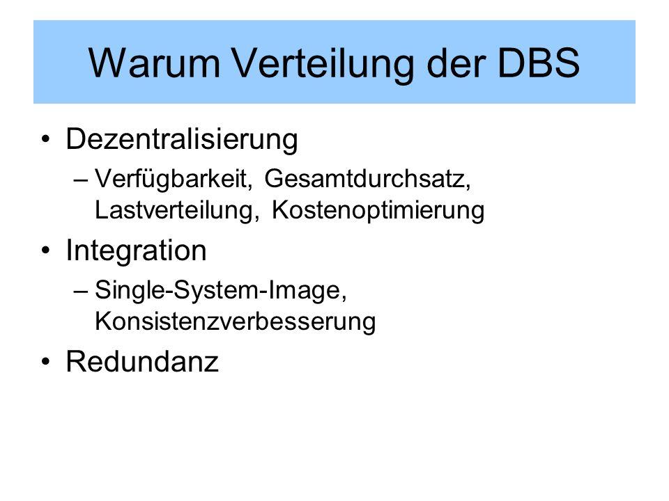 Warum Verteilung der DBS
