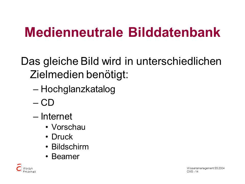 Medienneutrale Bilddatenbank