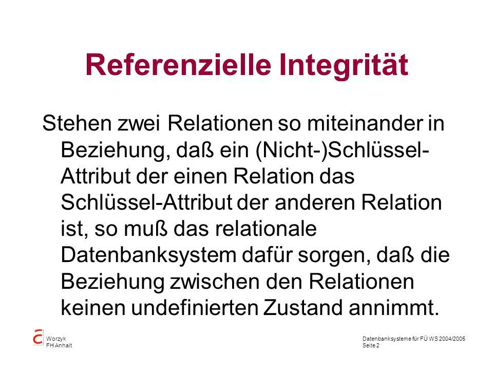 Referenzielle Integrität