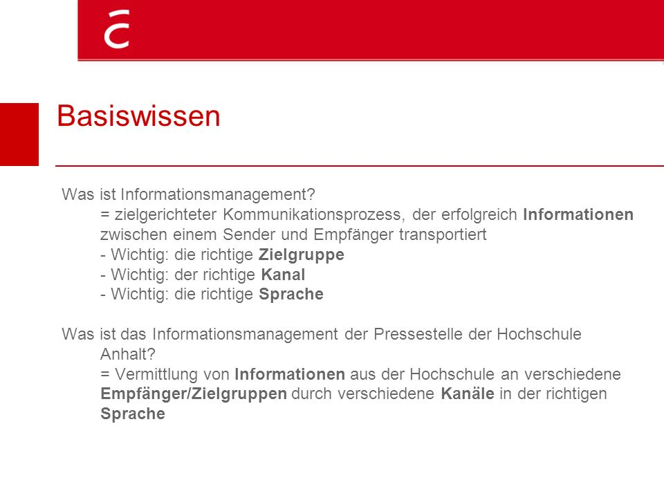 Basiswissen Was ist Informationsmanagement