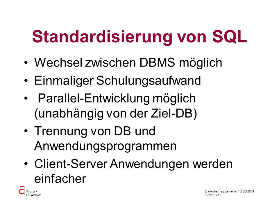 Standardisierung von SQL