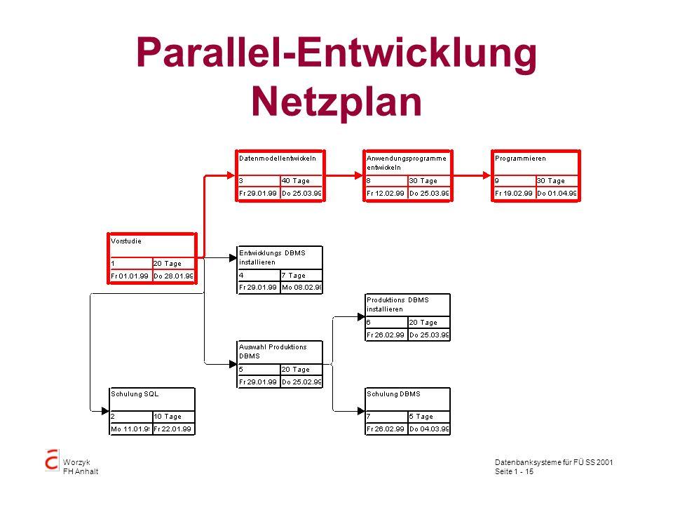 Parallel-Entwicklung Netzplan