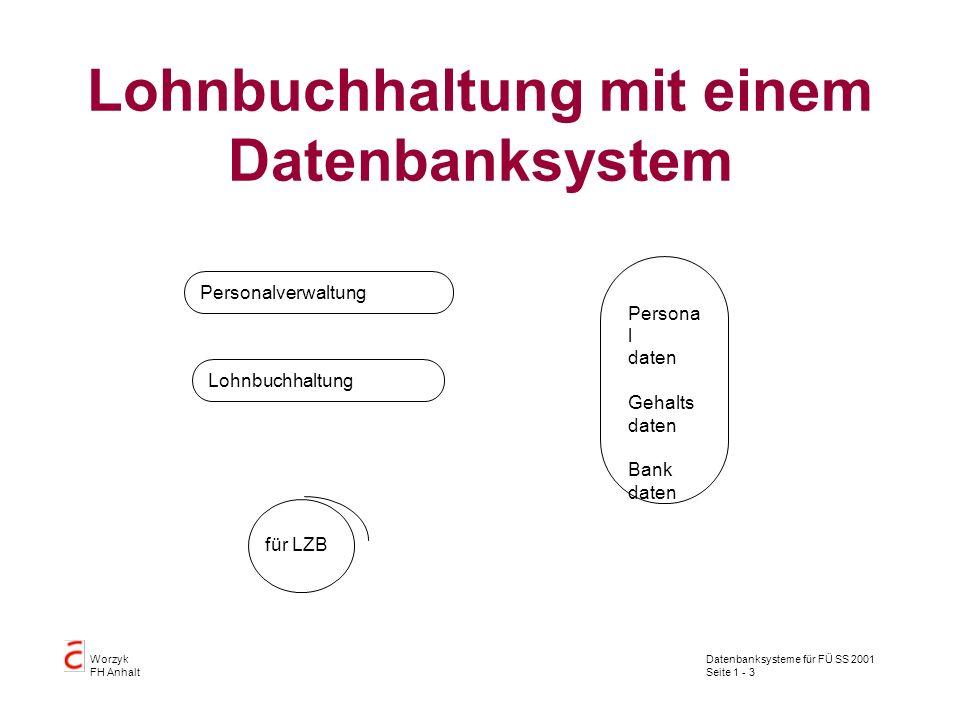 Lohnbuchhaltung mit einem Datenbanksystem