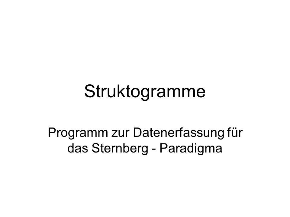 Programm zur Datenerfassung für das Sternberg - Paradigma