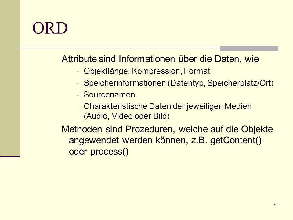 ORD Attribute sind Informationen über die Daten, wie