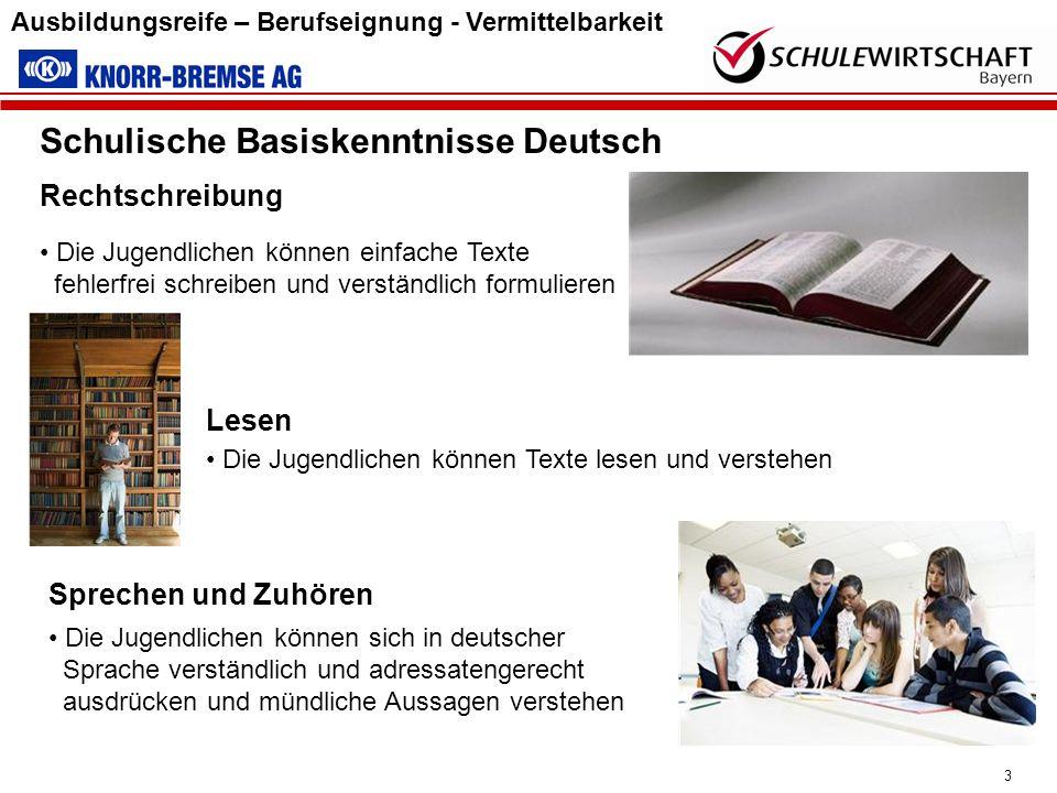 Schulische Basiskenntnisse Deutsch