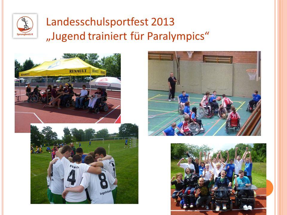 """Landesschulsportfest 2013 """"Jugend trainiert für Paralympics"""