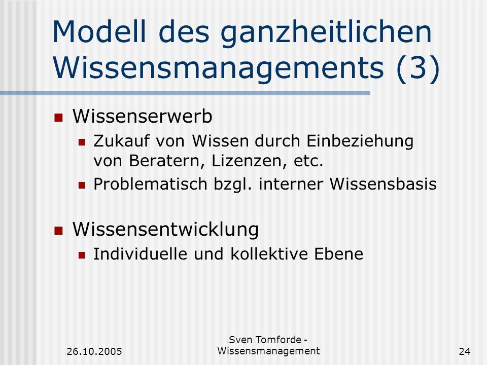 Modell des ganzheitlichen Wissensmanagements (3)