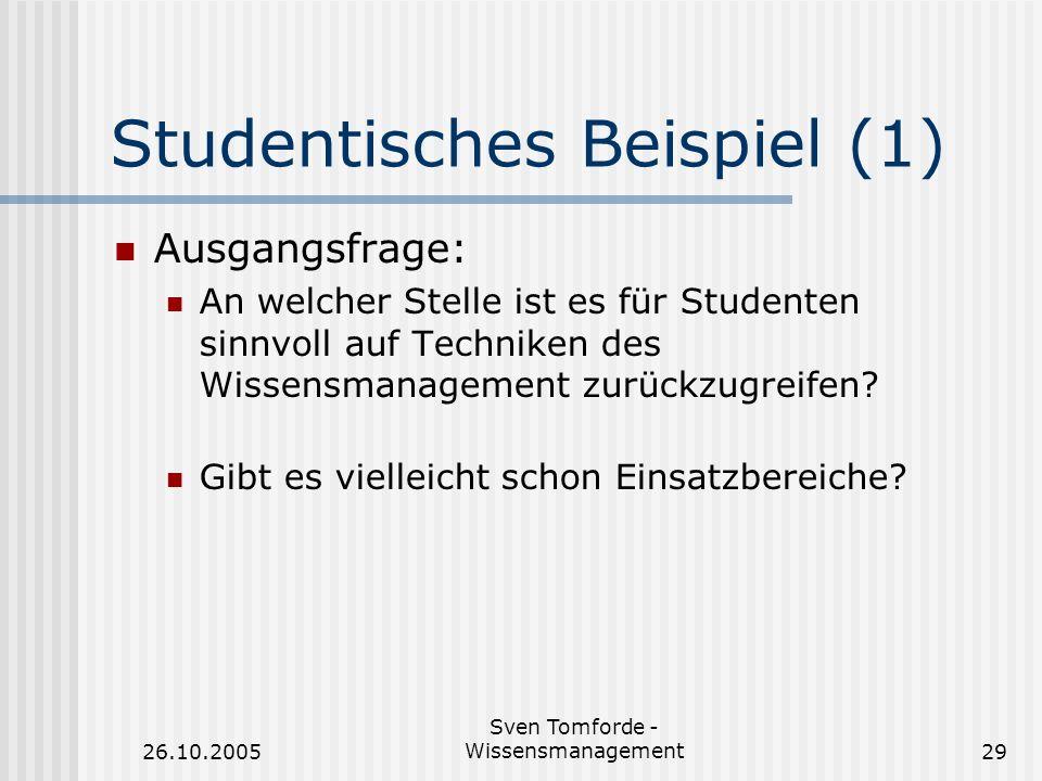 Studentisches Beispiel (1)