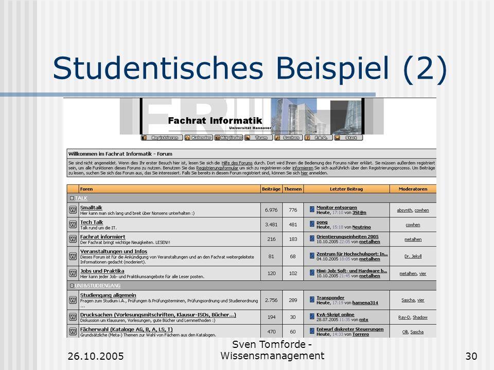Studentisches Beispiel (2)
