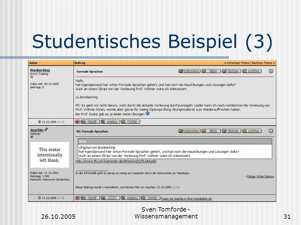 Studentisches Beispiel (3)