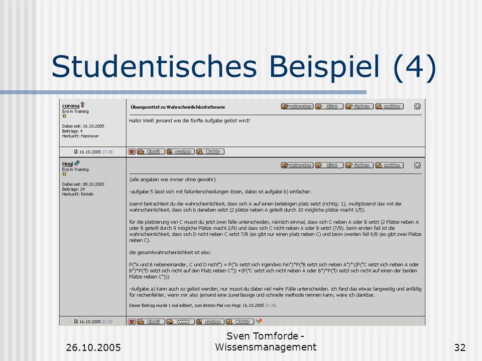 Studentisches Beispiel (4)