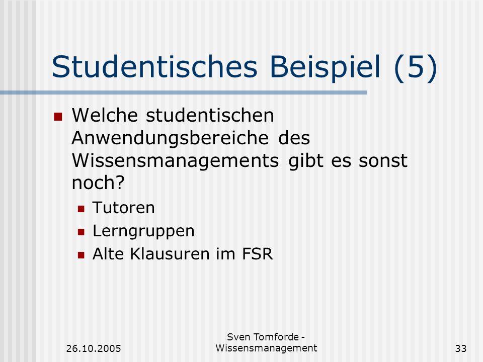 Studentisches Beispiel (5)