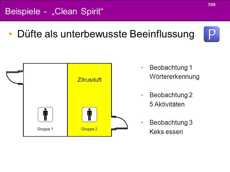 """Beispiele - """"Clean Spirit"""