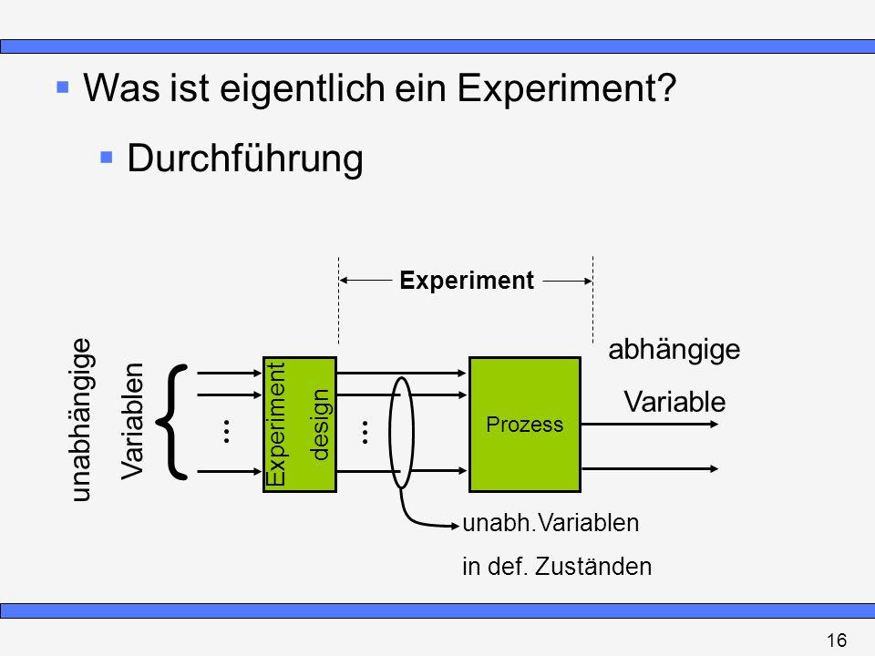 { Was ist eigentlich ein Experiment Durchführung abhängige Variable