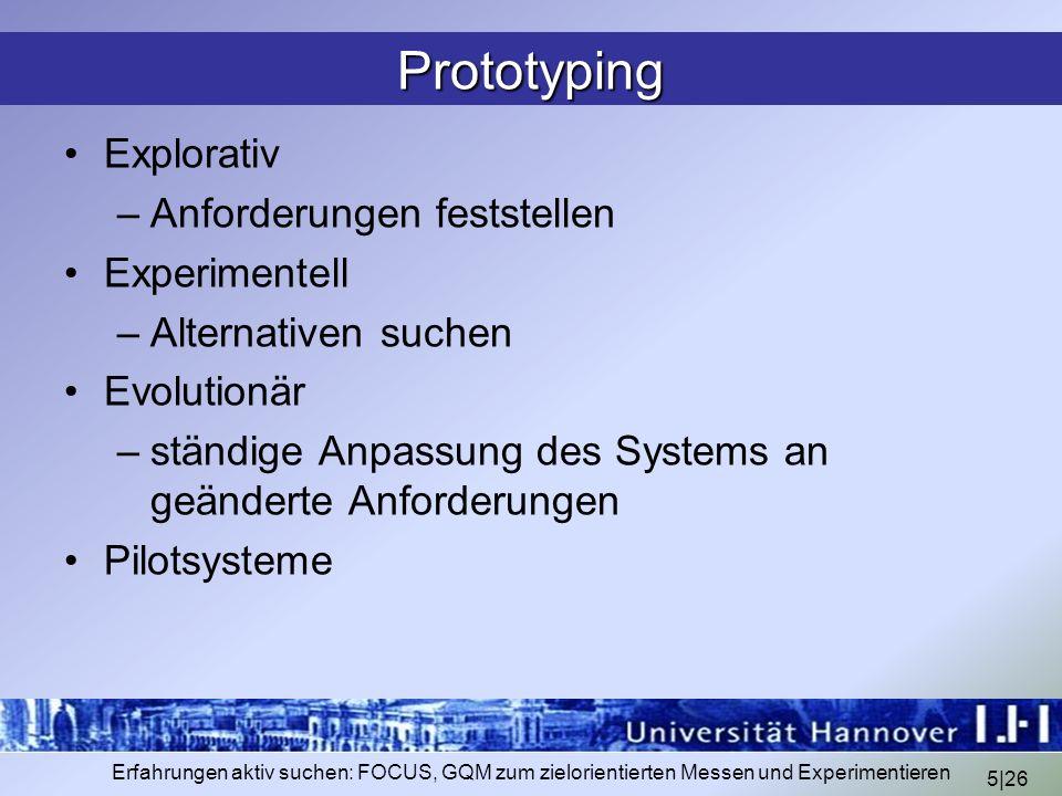 Prototyping Explorativ Anforderungen feststellen Experimentell