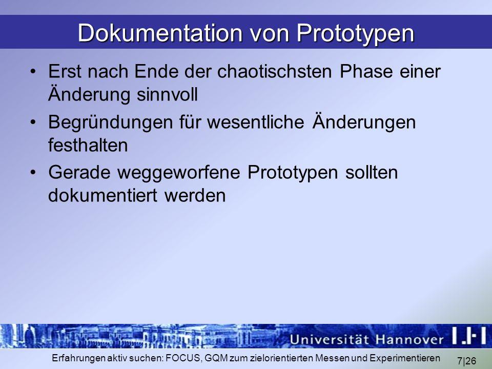 Dokumentation von Prototypen