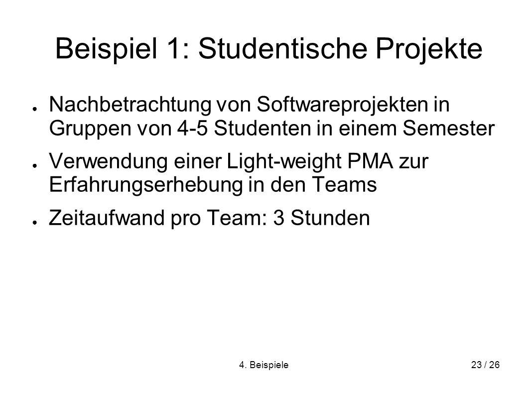 Beispiel 1: Studentische Projekte