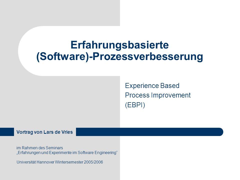 Erfahrungsbasierte (Software)-Prozessverbesserung