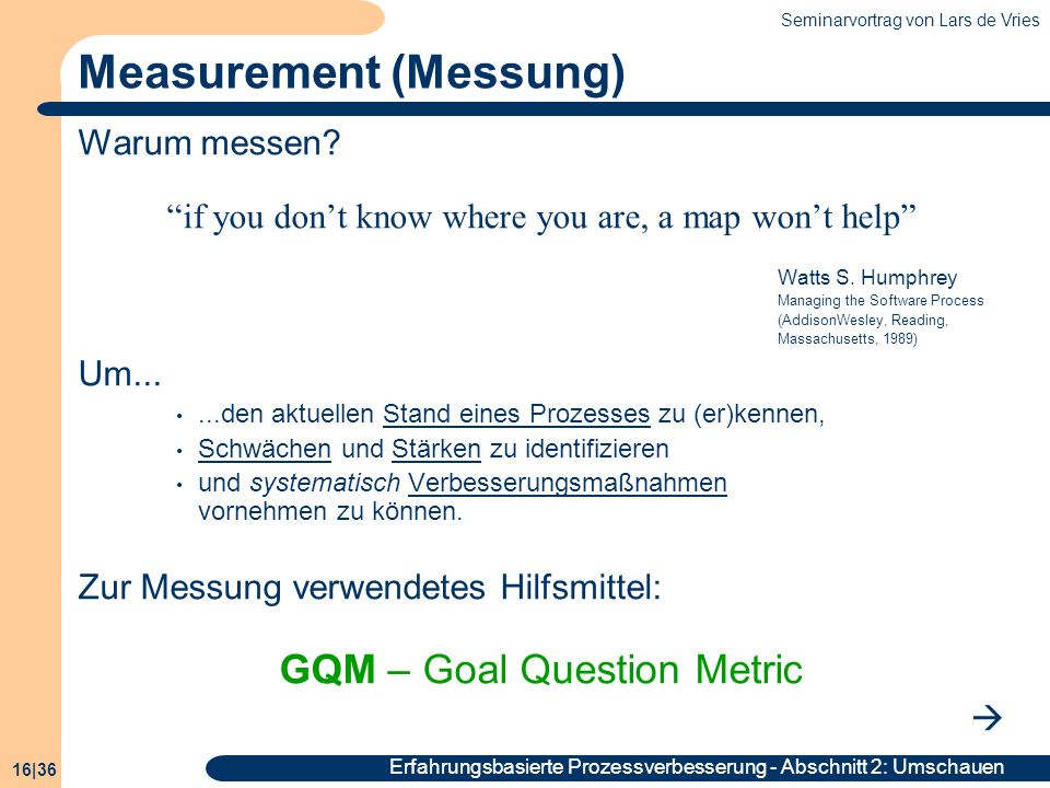 Measurement (Messung)
