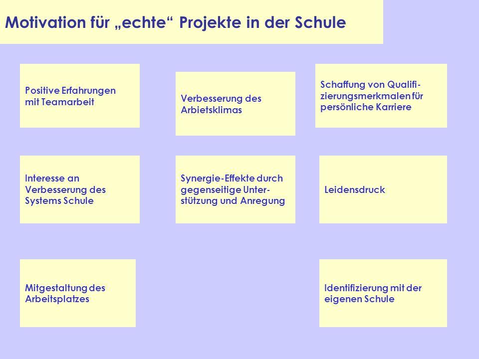 """Motivation für """"echte Projekte in der Schule"""