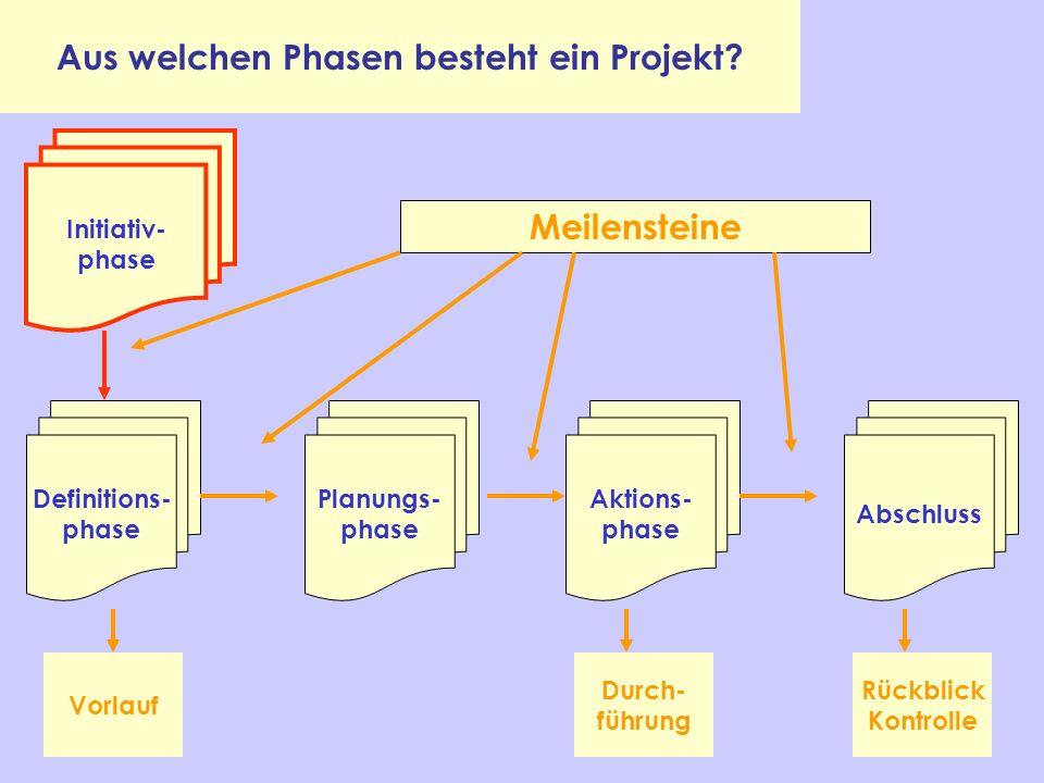 Aus welchen Phasen besteht ein Projekt