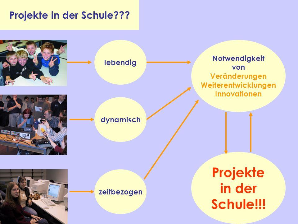 Projekte in der Schule!!! Projekte in der Schule Notwendigkeit