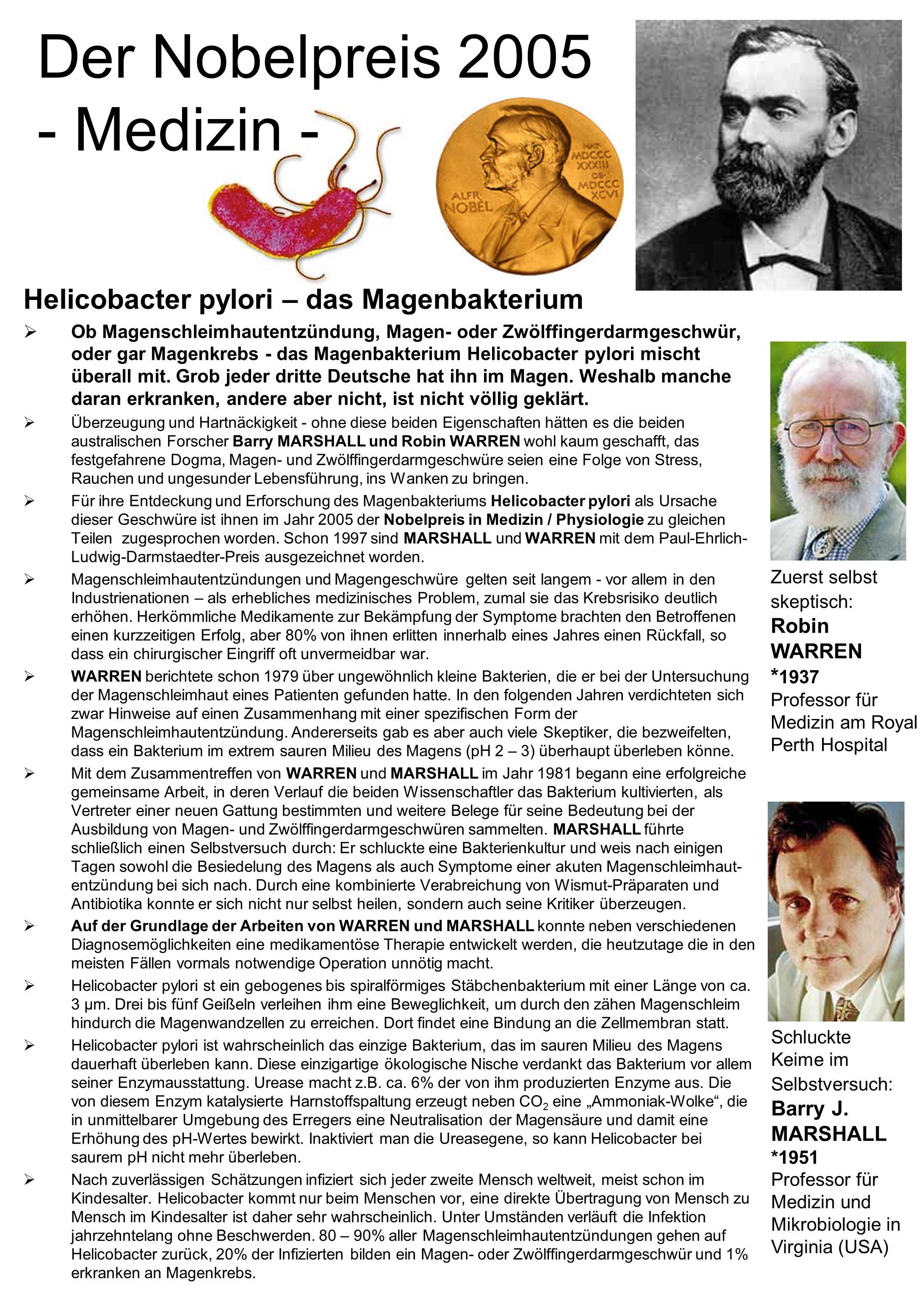 Der Nobelpreis 2005 - Medizin -