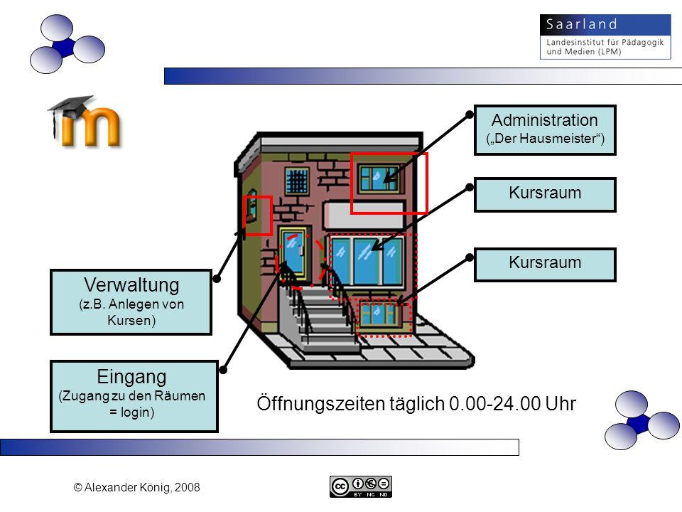 Verwaltung (z.B. Anlegen von Kursen)