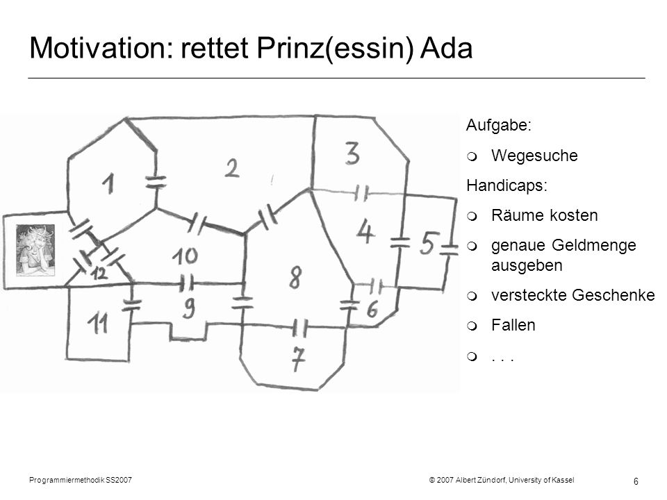 Motivation: rettet Prinz(essin) Ada