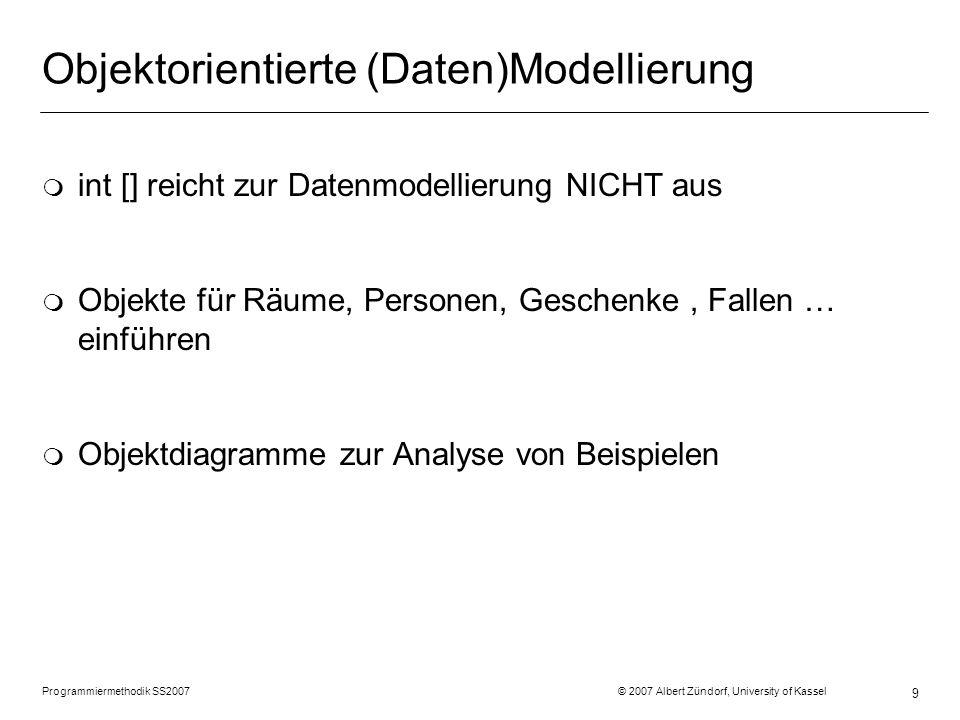 Objektorientierte (Daten)Modellierung