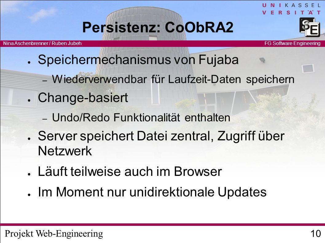 Persistenz: CoObRA2 Speichermechanismus von Fujaba Change-basiert