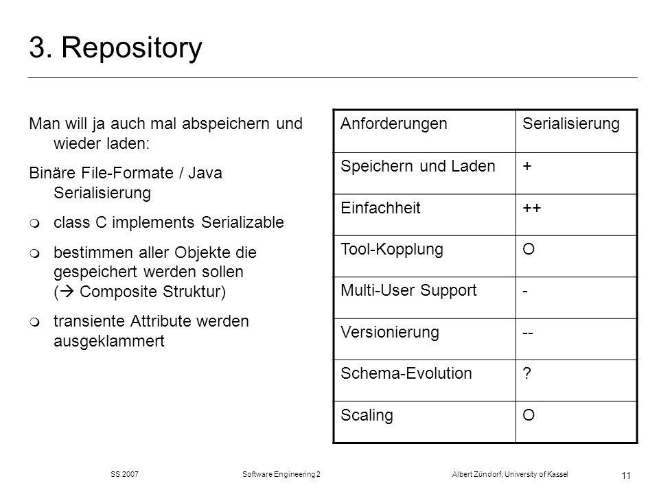 3. Repository Man will ja auch mal abspeichern und wieder laden: