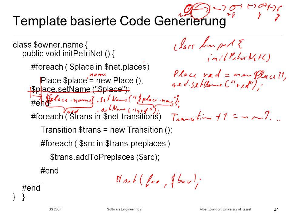Template basierte Code Generierung