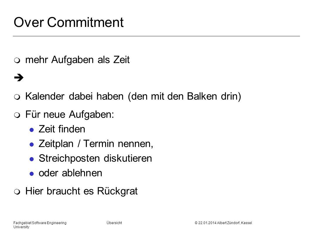 Over Commitment mehr Aufgaben als Zeit 