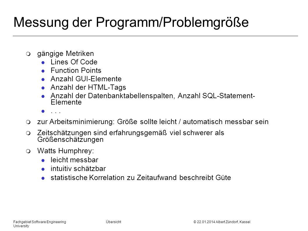 Messung der Programm/Problemgröße