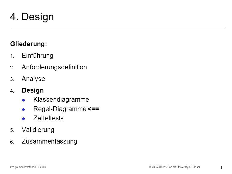4. Design Gliederung: Einführung Anforderungsdefinition Analyse Design