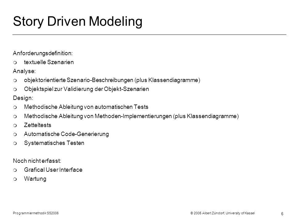 Story Driven Modeling Anforderungsdefinition: textuelle Szenarien