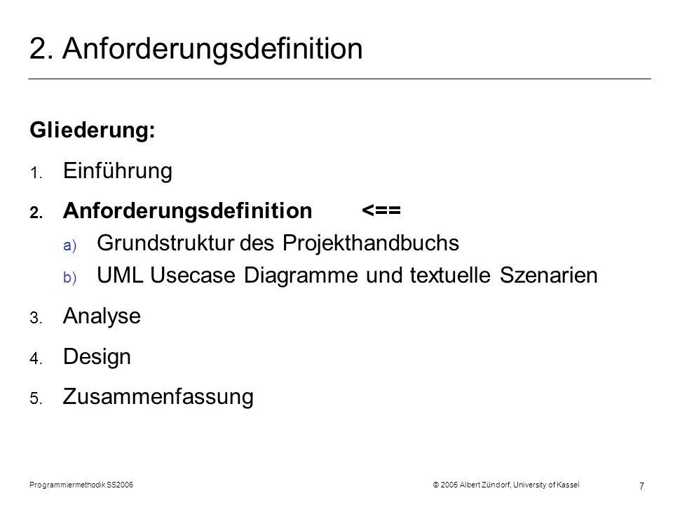 2. Anforderungsdefinition