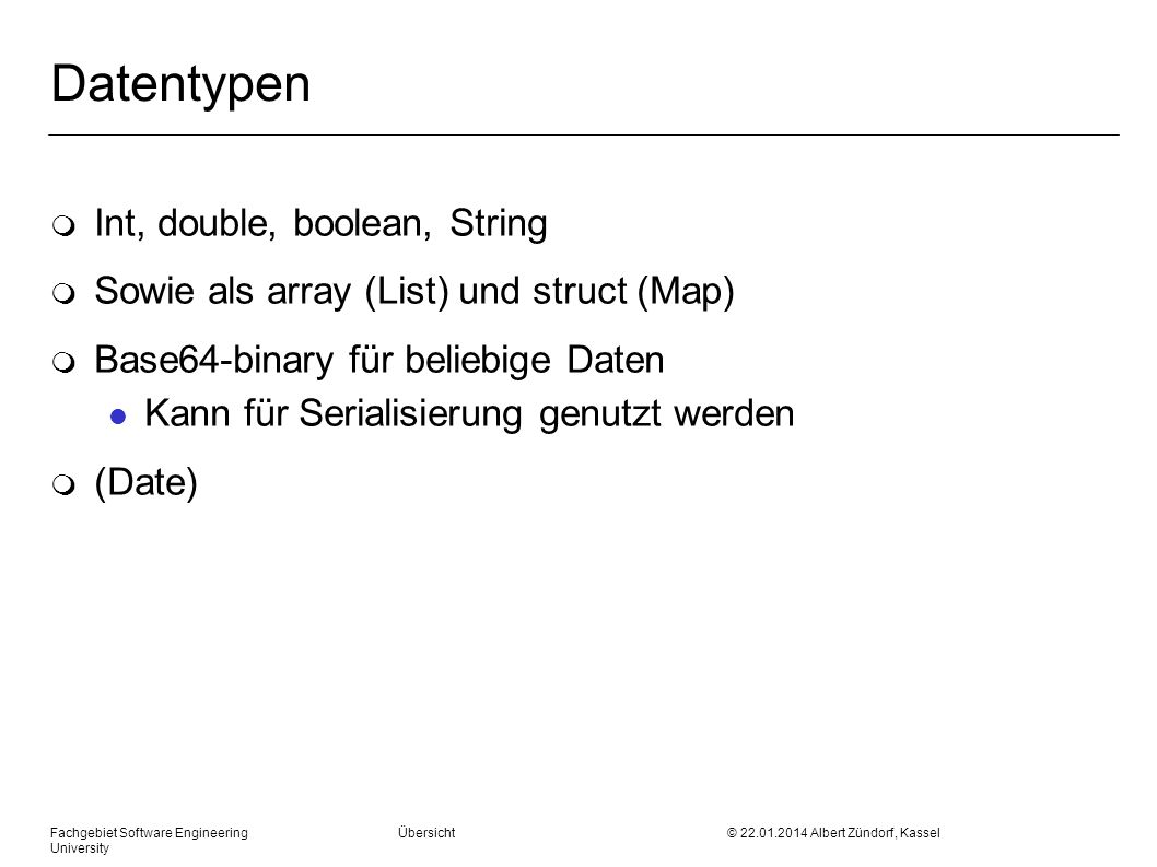 Datentypen Int, double, boolean, String