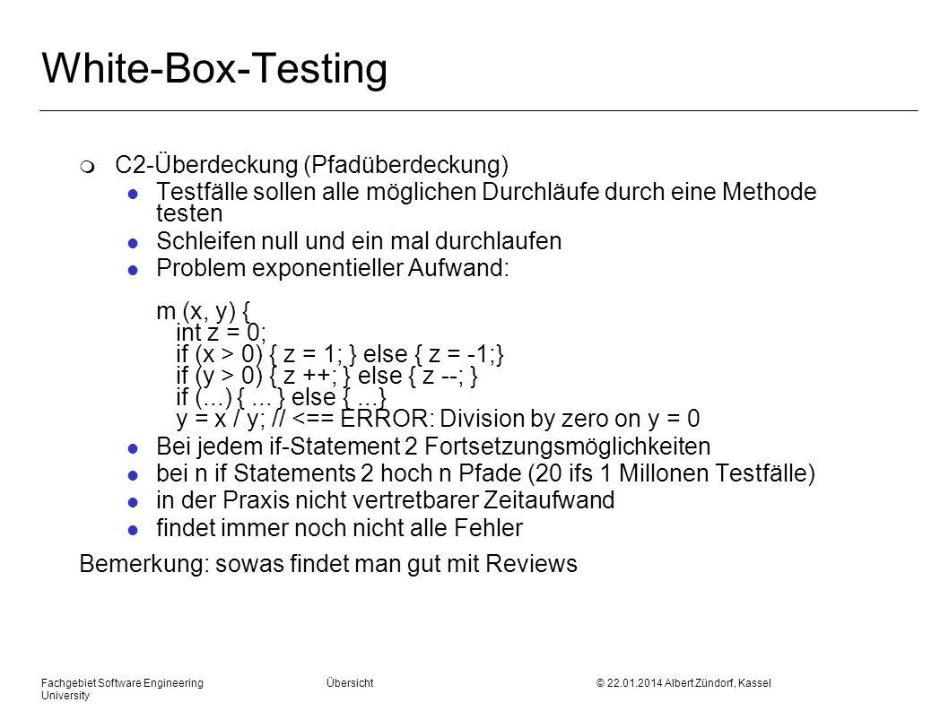 White-Box-Testing C2-Überdeckung (Pfadüberdeckung)