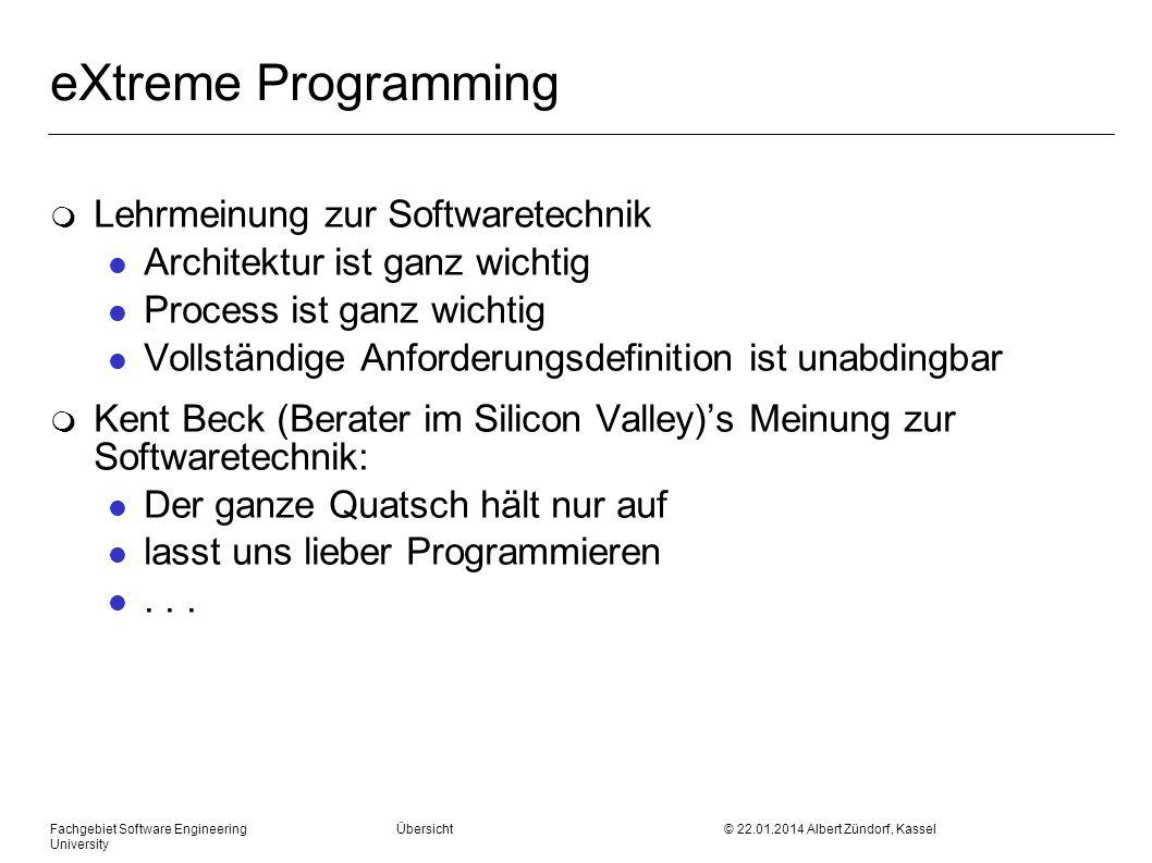 eXtreme Programming Lehrmeinung zur Softwaretechnik