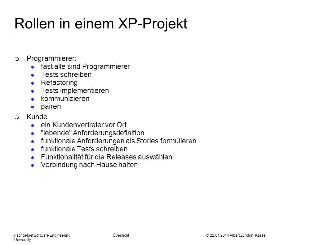 Rollen in einem XP-Projekt